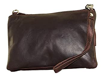 Genuine Leather Oilpullup Small Handbags for Women - Crossbody Bag for Women (Brown)