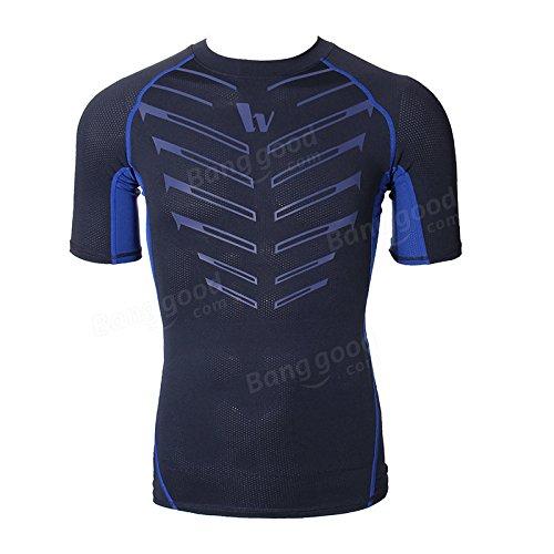 Bazaar Mens collants sport cyclisme maillot vélo à manches courtes T-short compression séchage rapide respirable