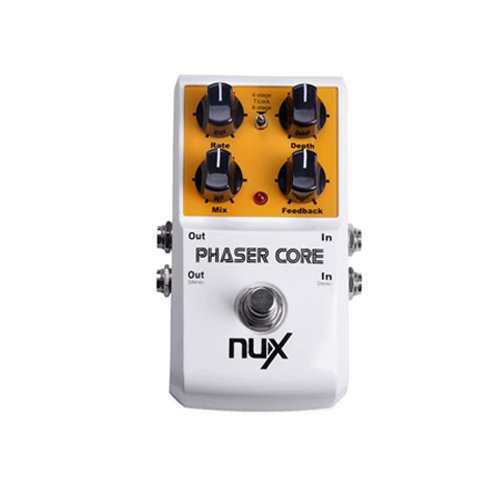 NUX Phaser Core Guitar Effect Pedal 4-stage and Tape 8-stage Tone Lock True Bypass PHASER-CORE