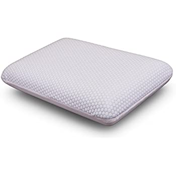 Comfort & Relax Sleep Reversible Cool Gel Memory Foam Pillow for All Seasons, Removable Cover, Standard