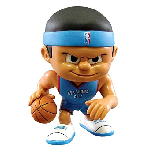 Oklahoma City Thunder Official NBA 2 inch x 2.5 inch x 3 inch Lil Teammates NBA Playmaker Series 2 Toy Figure by Party Animal Inc 701265 by The Party Animal