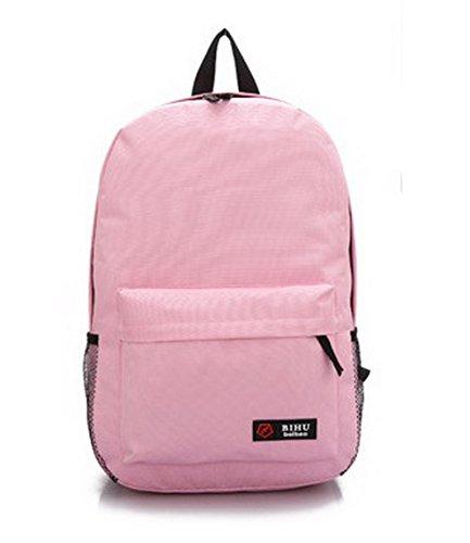 à Sacs Rose bandoulière Noir dos École AalarDom Zippers Daypack Femme Sacs à Voyage F1xq08w