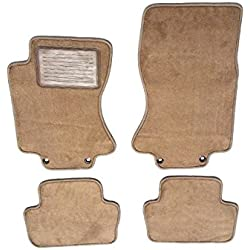 Avery's Floor Mats Part Compatible with Jaguar S-Type Custom Fit Beige Carpet Replacement Floor Mats 4PC for 2003-2008-Serged Edges with Heel Pad