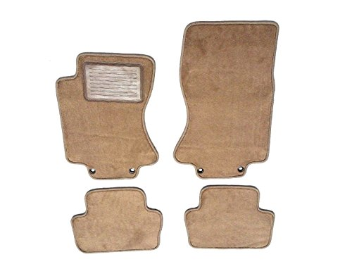 Jaguar S-Type Custom Fit Beige Carpet Replacement Floor Mats 4PC for 2003-2008-Serged Edges & Heel Pad by Avery's Floor Mats