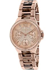 Michael Kors Watches Mini Camille Multifunction Acetate Watch (Rose Gold)