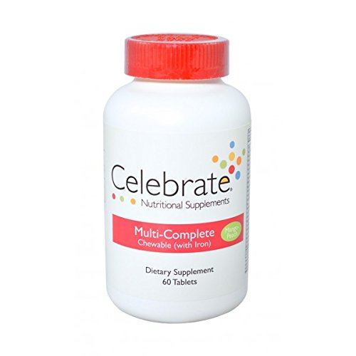 Celebrate Multi-Complete (w/iron) chewable Mango Peach 60 ct