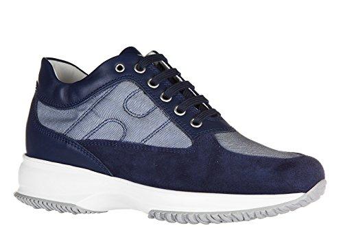 Hogan chaussures baskets sneakers femme en cuir interactive blu