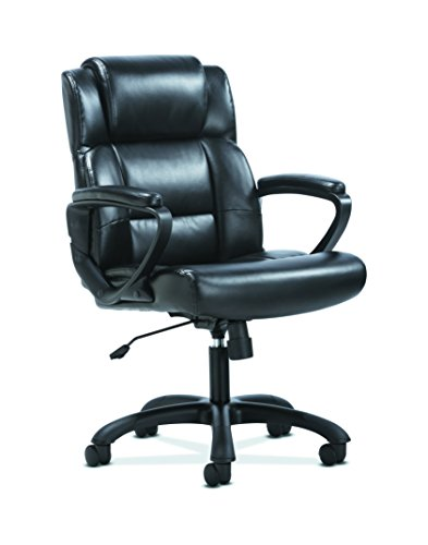 HON Sadie Leather Executive Computer/Office Chair with Arms – Ergonomic Swivel Chair (HVST305)