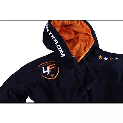 orange Néon Poches Et Avec Sweat Capuche Un 4fighter shirt Capuchon Noir Zqw1nO