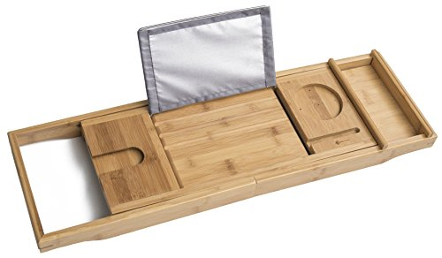 ModernTropic Luxury Bamboo Bathtub Caddy product image