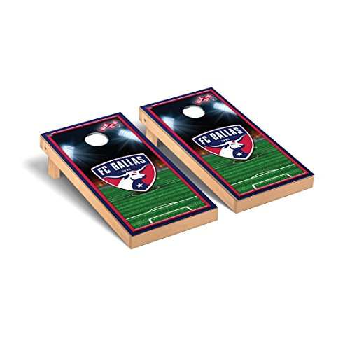 Victory Tailgate FC Dallas FCDSC MLS Soccer Desktop Cornhole Game Set Soccer Field Version 1 by Victory Tailgate