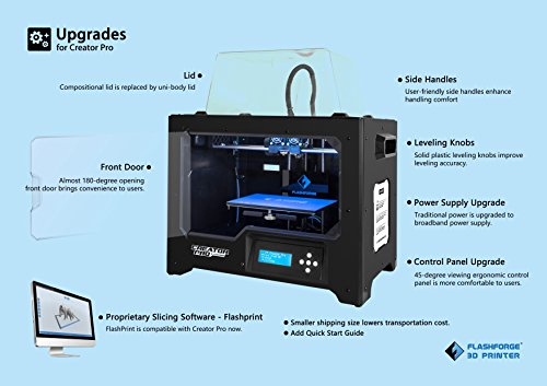 Flashforge Creator pro with Upgrades by WOL3D