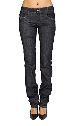 DIESEL - Jeans Mujer NEWZ 8WZ - Regular Slim - Straight - Stretch Azul