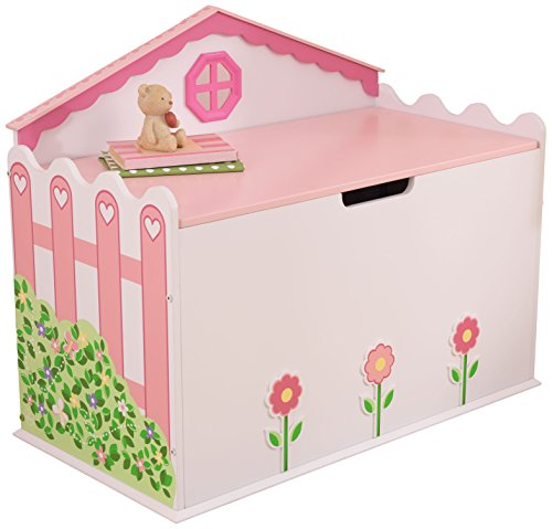 KidKraft Girl's Dollhouse Toy Box Dollhouse Toy Box