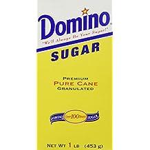 DOMINO GRANULATED PURE CANE WHITE SUGAR 1 LB BOX