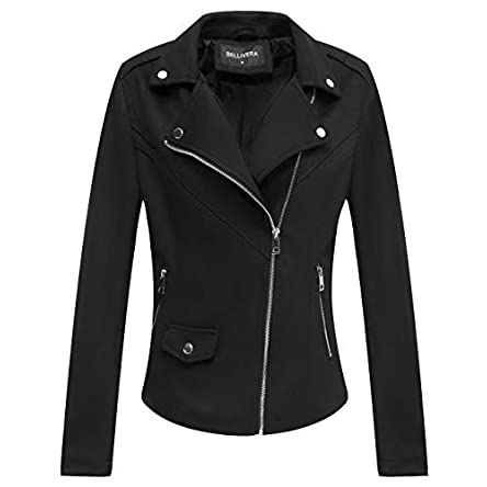 Bellivera Faux Suede Jackets for Women, Moto Biker...