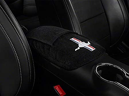 with Embroidered Logo for Select Mustang Tribar Models Seat Armour KAMUS15-16 Black 2015-2018 Custom Fit Console Cover