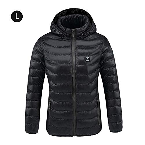 Oshide Heated Coat,USB Rechargeable Electric Adjustable Warm Winter Coat for Outdoor Bicycling/Skiing/Motorcycle/Ice Fishing/Hiking,Unisex Heated Jacket, Temperature