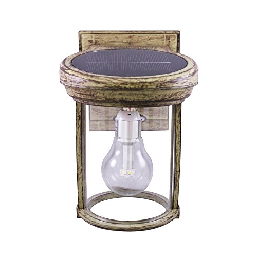 Gama Sonic Solar Coach Outdoor Lantern GS-1B-WB - Weathered Bronze Finish