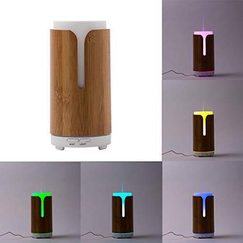 High Capacity Home Humidifier Air Purifier FEA J80 Mini Colourful LED Light 100ML Bamboo Air Humidifier for Home & Office,Safety Purify air Electric USB Dehumidifier Safety Purify air