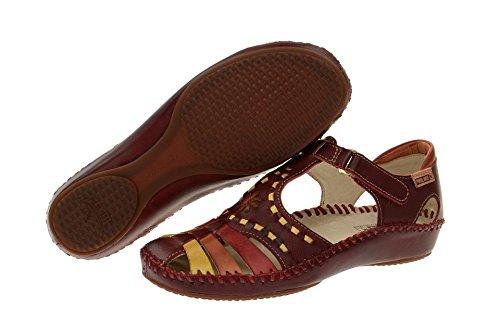 Rojo Rot vallarta mujer 655 vestir P para 1504 Sandalias Piel de de Pikolinos S71Cqww
