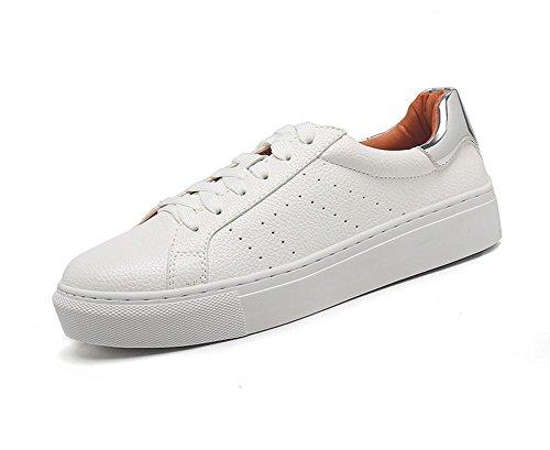 Mme Spring chaussures d'ascenseur chaussures casual chaussures en dentelle chaussures plates rondes , US6 / EU36 / UK4 / CN36