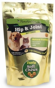 NaturVet Naturals Hip and Joint Plus Soft Chews for Dogs and Cats — 120 Soft Chews, My Pet Supplies