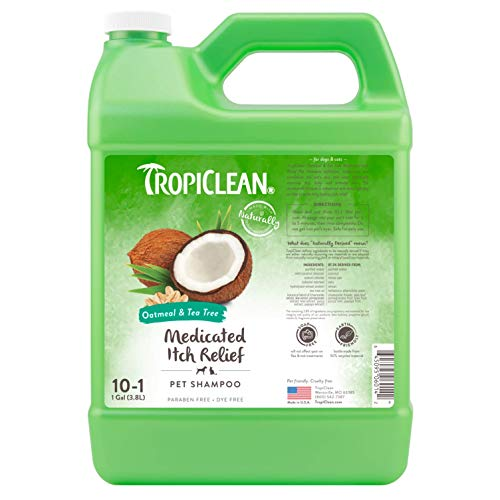 TropiClean Oatmeal & Tea Tree Medicated Dog Shampoo