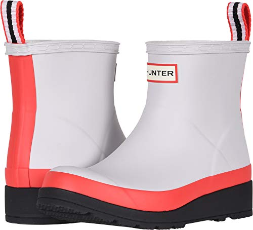 Hunter Women's Original Play Boot Short Rain Boots Hunter Red/Hunter White/Black 10 M US