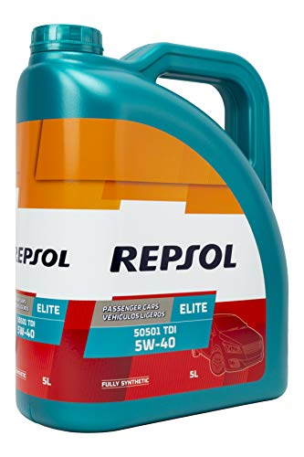 Repsol Hmreli5055405l Aceite De Motor Elite 50501 Tdi 5w40 5 Litros Transparentedorado Talla Unica