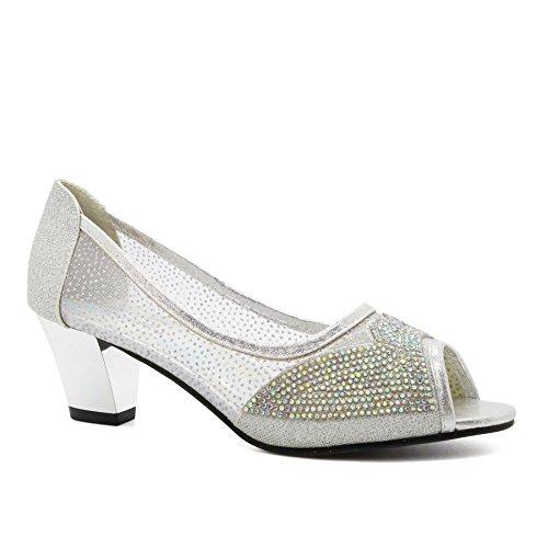 Footwear Peep London toe Silver Donna SdUAAqw7