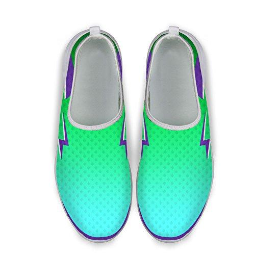För U Designs Svala Kvinnor Ventilerande Mesh Athletic Gymnastiksko Löparskor Gröna 1