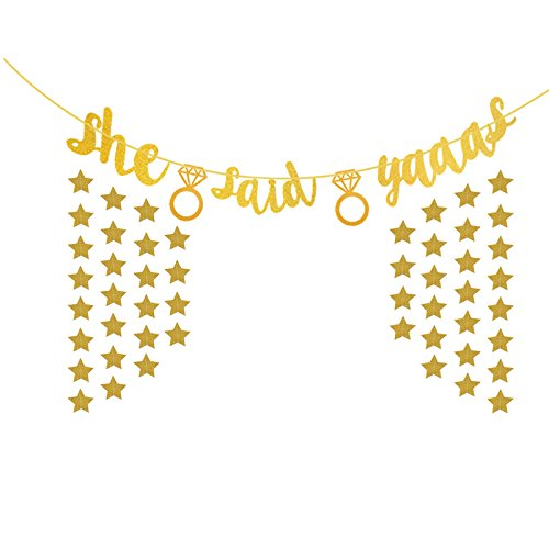 She Said Yaaas Banner Bachelorette Party Decorations Garland Bunting Sign Party Decoration Photo Props by Betalala