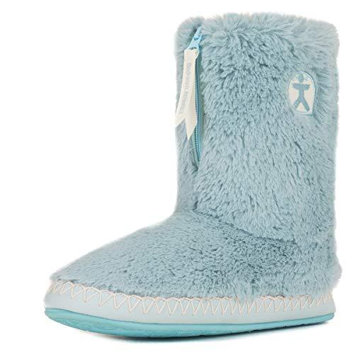 Bedroom Athletics Women's Marilyn Faux Fur Slipper Boots - Cloud Blue - Large (9/10 -