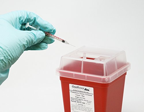 1 Quart Size (Pack of 10)   Sharps Disposal Container   OakRidge - System Disposal Sharps
