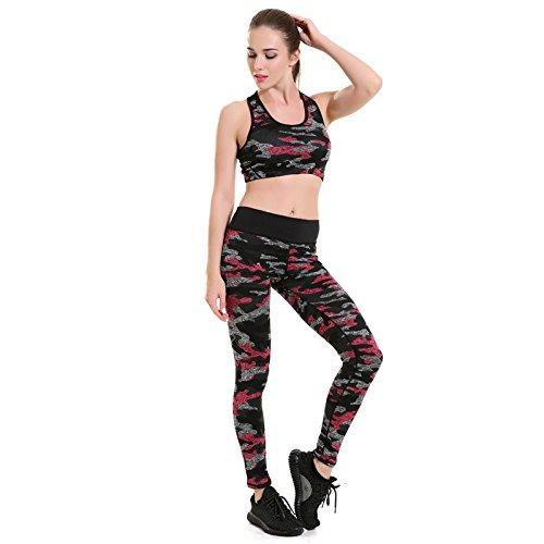 GYXYYF Frauen Yogahosen Tarnung Atmungsaktivem Schweiß Neun Punkte Yogahosen Jogginghose