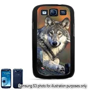 Gray Wolf Photo #2 Samsung Galaxy S3 i9300 Case Cover Skin Black