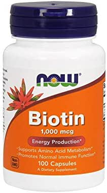 Now Supplements, Biotin 1000 mcg, 100 Capsules