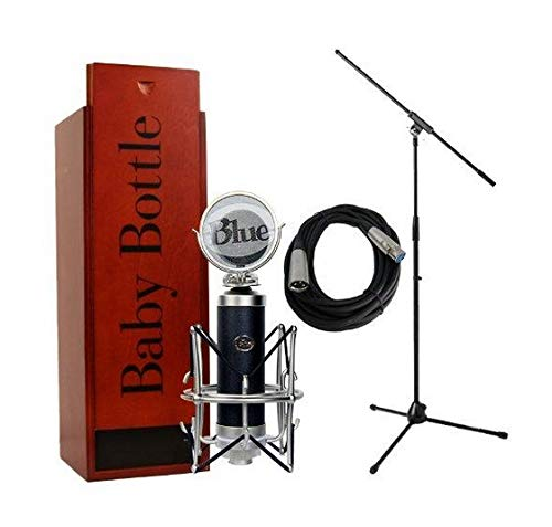 Blue Microphones Baby Bottle with Pop Filter, Shockmount, Mic Stand, and Cable Bundle