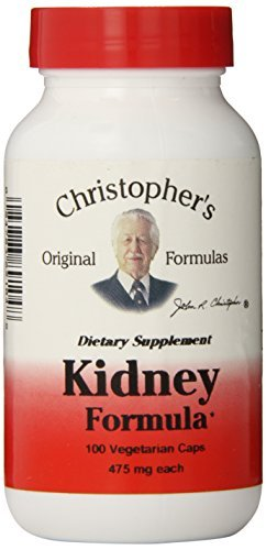 Dr. Christopher's Original Formulas Kidney Formula Capsules, 100 Count (Pack of 3) (Christophers Formulas Dr)