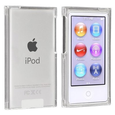 Importer520 Rubberized Shield Hard Cover Case for iPod Nano 7th Generation (Clear Transparent)