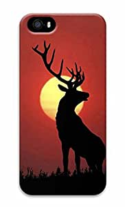 Unique Design Cases for iPhone 5 3D Horned Deer Cover by supermalls