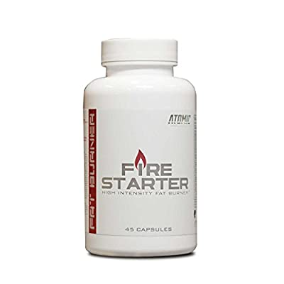 Firestarter Fat Burner by Atomic Strength Nutrition | High Intensity Stimulation, Increase Energy, Thermogenic, Appetite Suppressor - 45 capsules