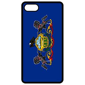 Pennsylvania PA State Flag Black Apple Iphone 4 - Iphone 4s Cell Phone Case - Cover