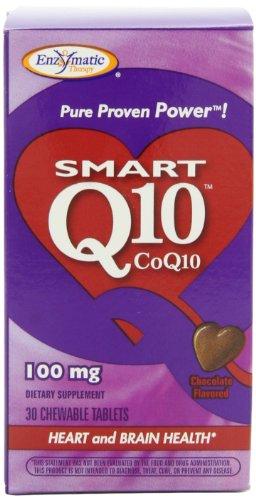 Enzymatic Therapy intelligent Q10, CoQ10, 100 mg, 30 comprimés à croquer