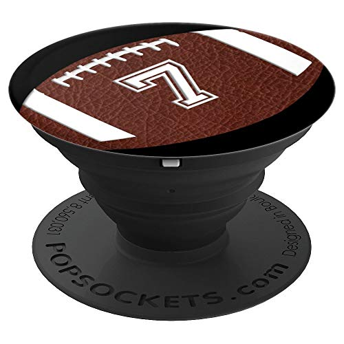 (American Football Player #7 Jersey No 7 Ball Pop Socket Gift - PopSockets Grip and Stand for Phones and Tablets)