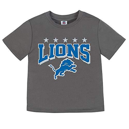 NFL Detroit Lions Unisex Short-Sleeve Tee, Gray, 3T