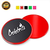 Celebrita 2 Packs of Gliding Discs Core Sliders Ab, Back, Hip, and Leg Exercise Gear for Gym, Home, Yoga, Pilates | Strengthen Abdominals, Burn Fat, Improve Balance (Red)