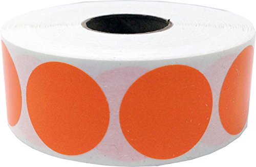 Color Coding Labels Orange Round Circle Dots For Organizing Inventory 1 Inch 500 Total Adhesive Stickers