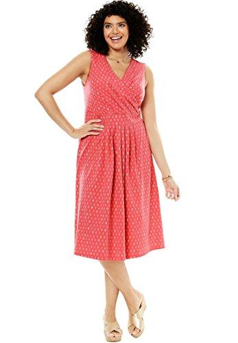 - Women's Plus Size Short Floral Print Surplice Dress